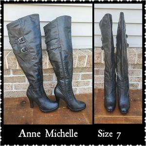 Ann Michell knee boots black size 7